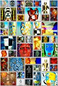 Cyborg collage - with many cyborg busts