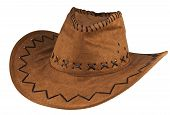 image of bareback  - Cowboy hat isolated on the white background - JPG