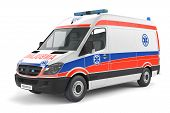 image of ambulance car  - Modern Ambulance car at the white background - JPG