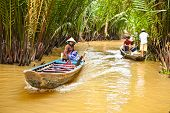 BEN TRE, VIETNAM-NOV 18, 2013: A famous tourist destination is  Ben Tre village on Nov 18, 2013. in