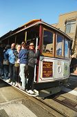 The famous cable car in San Francisco
