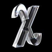 símbolo de Chi em vidro (3d)