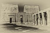 stock photo of isis  - The Temple of Isis at Philae island - JPG