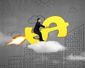 Taking Golden Money Rocket Flying