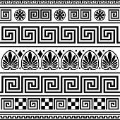 Set of vector greek borders