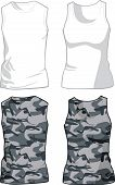 White and Military Shirts template. Vector