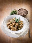 pasta with red lentils olive oil and pepper