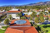 Local Court House Orange Roofs Buildings Mission Houses Santa Barbara California