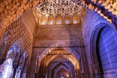 Blue Arches Square Shaped Ceiling Sala De Los Reyes Alhambra Moorish Wall Designs Granada Andalusia