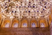 Square Shaped Domed Ceiling Arch Sala De Los Reyes Windows Alhambra Moorish Wall Designs Granada