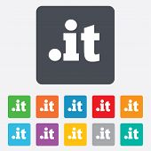 Domain IT sign icon. Top-level internet domain