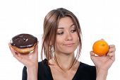 stock photo of healthy eating girl  - Healthy eating food concept - JPG