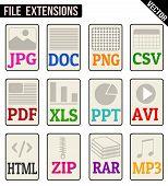 File Types Icons Set
