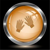 Gauntlets. Internet button. Vector illustration.