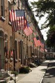Patriotic american street