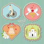 Label With Cute Wedding Elements