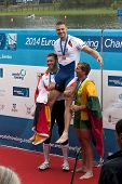 Medal Ceremony, Men's Single Sculls, European Rowing Championships 2014