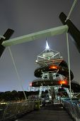 Spiral Lookout Tower in Hong Kong at night