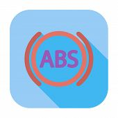 ABS flat single icon.