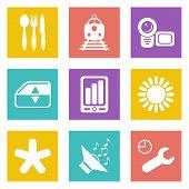 Color icons for Web Design set 50