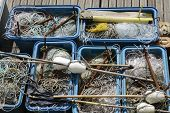 Fishing Tackle, Nets, Lines, Floats