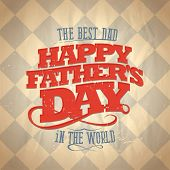 Fathers day card, retro style vector illustration. Eps10