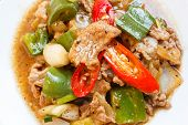 Fried Pork With Sweet Peppers.