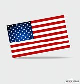 Happy independence day. American Flag design, vector illustration.