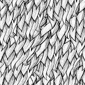 Seamless hand drawn abstract seamless pattern