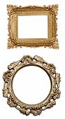Set A Carved Frame Isolated
