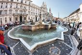 The Moor Fountain, Located In The Southern Area Of Piazza Navona