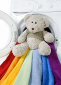 Washing Machine, Toy And Colorful Things To Wash