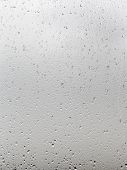 Background From Rain Drops On Window Pane