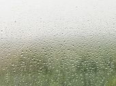 Raindrops On Home Window Pane