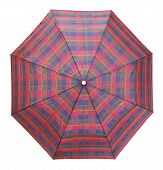 Top View Of Checkered Umbrella