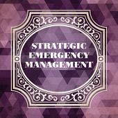 stock photo of disaster preparedness  - Strategic Emergency Management  Concept - JPG