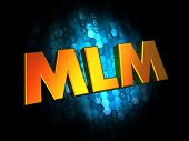 MLM - Gold 3D Words.