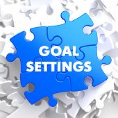 Goal Settings on Blue Puzzle