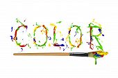 Colorful Paint Painted Word Color