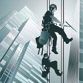 Climbers Clean Windows