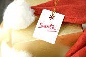 Close Up Santa Gift Tag