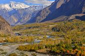 Autumn at Ghizer Valley. Northern Pakistan.