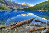 picture of ten  - Moraine lake in Banff National Park Canaga Valley of the Ten Peaks - JPG