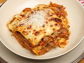 Lasagna made to a traditional Italian recipe