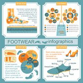 Footwear Infographics Elements. Easily Edited