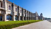 Jeronimos monastery. Classified as UNESCO World Heritage it stands as a masterpiece of the Manueline art.
