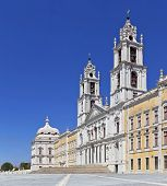 Mafra National Palace, Convent and Basilica in Portugal. Franciscan Religious Order. Baroque architecture.