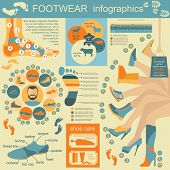 Footwear Graphics Elements. Easily Edited