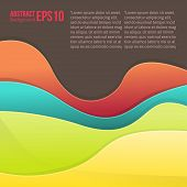 Abstract colorful light vector background. forms a smooth transition and waves.
