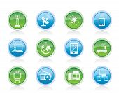 Vector communication and technology icons